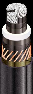 АПвЭгП - с продольной герметизацией экрана и наружной оболочкой из полиэтилена