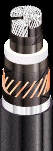 АПвЭгаП - с продольной и поперечной герметизацией экрана и наружной оболочкой из полиэтилена