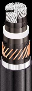 Силовые кабели с алюминиевыми ТПЖ и изоляцией из сшитого полиэтилена на напряжение от 6 до 35 кВ