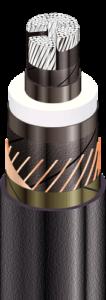 Силовые кабели с изоляцией из сшитого полиэтилена с алюминиевой ТПЖ, на напряжение от 45 до 150 кВ