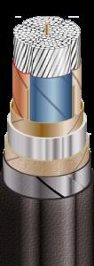 Силовые кабели с алюминиевыми токопроводящими жилами, с бумажной пропитанной изоляцией на напряжение от 1 до 10 кВ