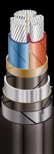 ЦАСБл в свинцовой оболочке, бронированные стальными лентами
