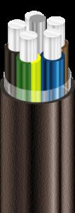 АВВГ Кабели силовые с алюминиевыми ТПЖ, с изоляцией из ПВХ пластиката, с наружной оболочкой из ПВХ пластиката