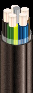 ВВГ Кабели силовые с медными ТПЖ, с изоляцией из ПВХ пластиката, с наружной оболочкой из ПВХ пластиката