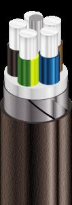 АПвБбШв Кабели силовые с алюминиевыми ТПЖ, с изоляцией из сшитого полиэтилена, бронированные стальными оцинкованными лентами, с защитным шлангом из ПВХ пластиката