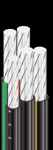 AsXSn - Провода самонесущие с изоляцией из полимерной композиции, не распространяющие горения 1 киловольт