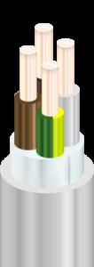 NYM-J - Кабели силовые, с медными ТПЖ, с изоляцией из ПВХ пластиката, с наружной оболочкой из ПВХ пластиката