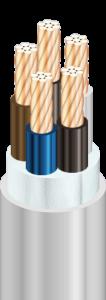 NYM-O - Кабели силовые, с медными ТПЖ, с изоляцией из ПВХ пластиката, с наружной оболочкой из ПВХ пластиката