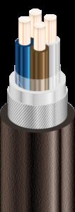 ВКбШв - Кабели силовые с медными ТПЖ, с изоляцией из ПВХ пластиката, бронированные круглой стальной проволокой, с защитным шлангом из ПВХ пластиката