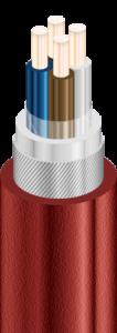 ВКбШвнг - Кабели силовые с медными ТПЖ, с изоляцией из ПВХ пластиката, бронированные круглой стальной проволокой, с защитным шлангом из ПВХ пластиката пониженной горючести