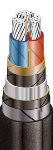 ААШв в алюминиевой оболочке, с защитным шлангом из ПВХ пластиката от 1 до 10 кВ