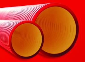 Жесткие гофрированные трубы из полиэтилена
